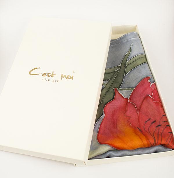 selyem sál tavaszi tulipánokkal 08