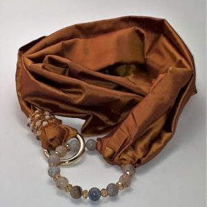 Scarfs with jewelry