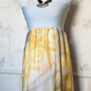 hand painted silk dress,skirt