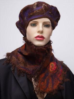 ruffle nuno felted silk scarf