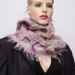 nuno felted silk scarf rosa