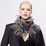 nuno felted silk scarf gray