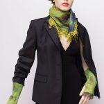 nuno felted silk scarf