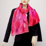 silk satin charmeuse pink scarf