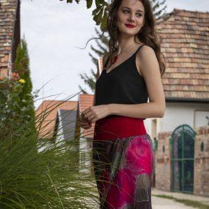 Hand painted silk skirt