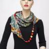 silk scarf with jewelry