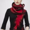 ruffle felted wool scarf