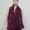 nuno felted silk scarf cyclamen