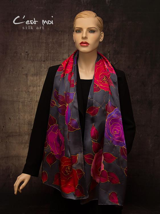 selyem-szatén-charmeuse-sál-színes-rózsákkal-01