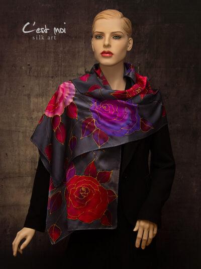 selyem-szatén-charmeuse-sál-színes-rózsákkal-04