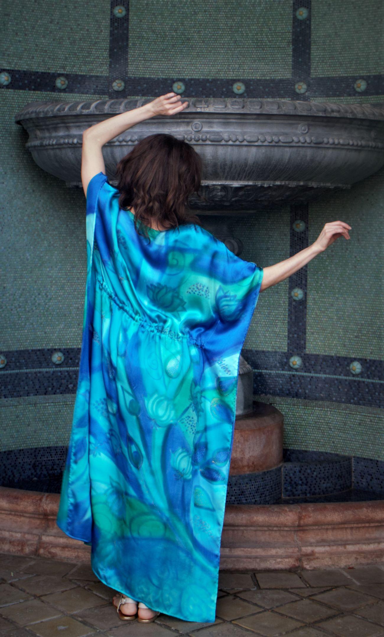 türkiz selyem ruha