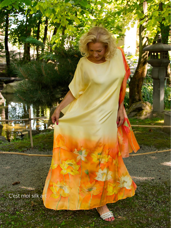 selyem-ruha-sárga-lótuszokkal-01