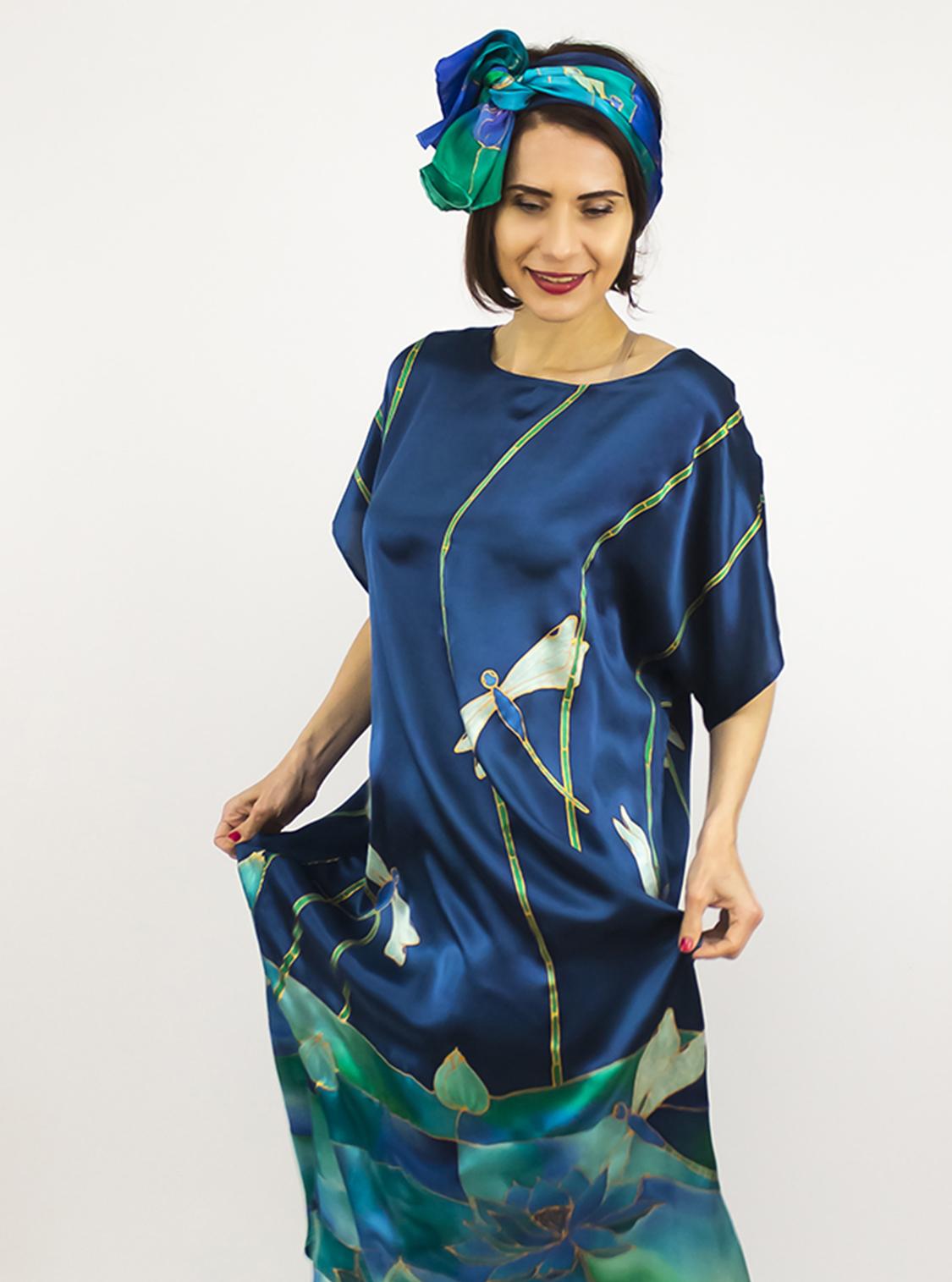 selyem szatén ruha szitakötőkkel 09 másolata