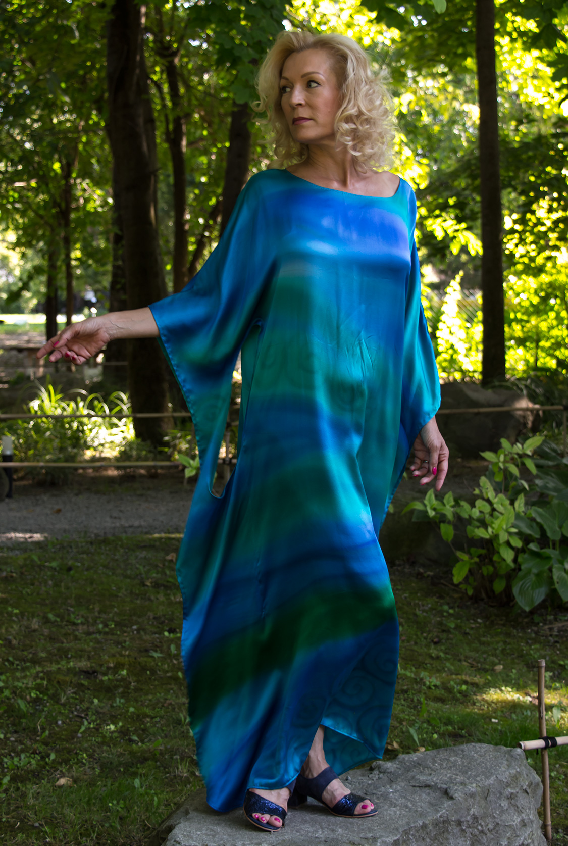 turquoise-casual-silk-dress-by-CestMoi-02