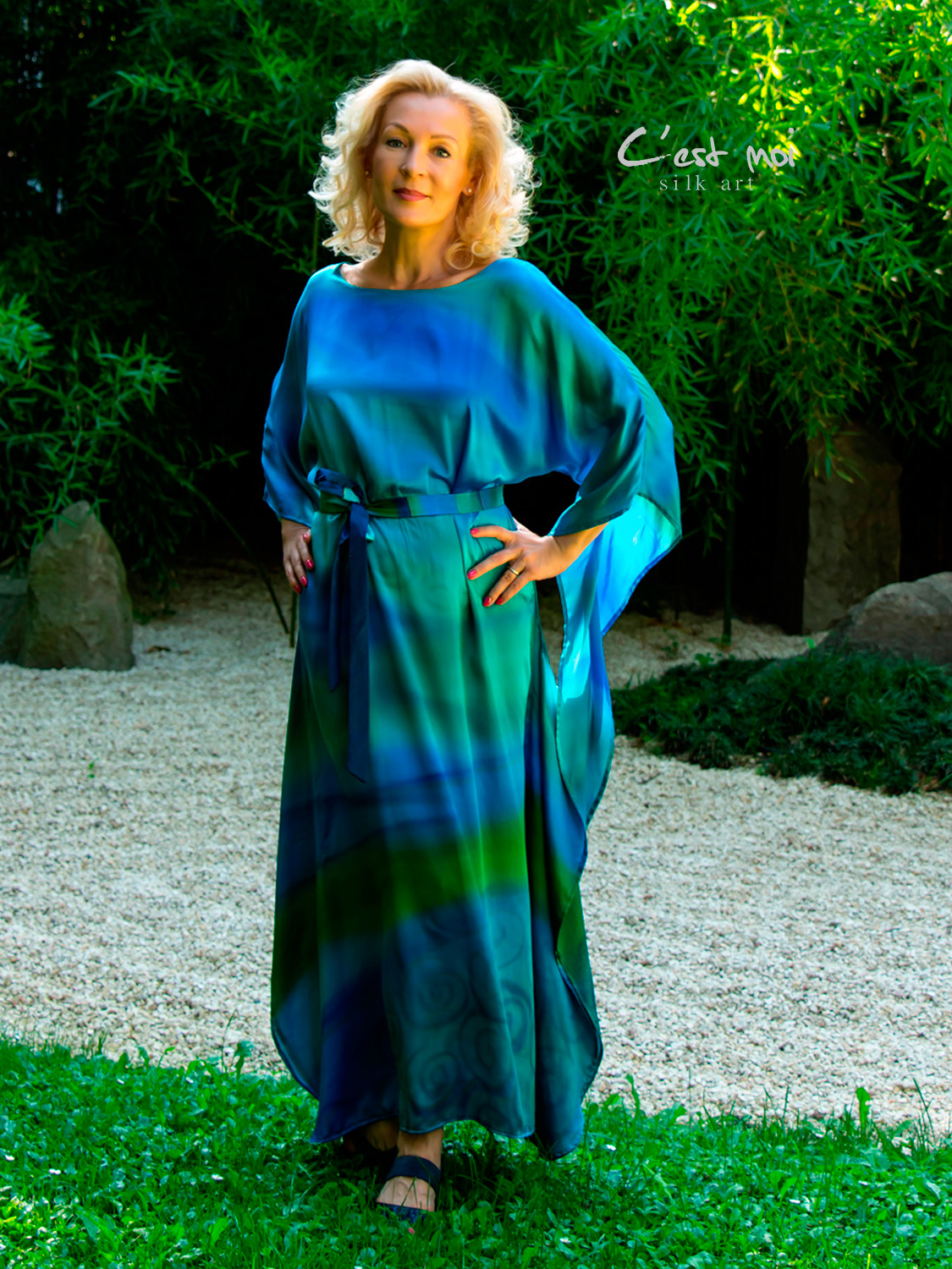 turquoise-casual-silk-dress-by-CestMoi-04