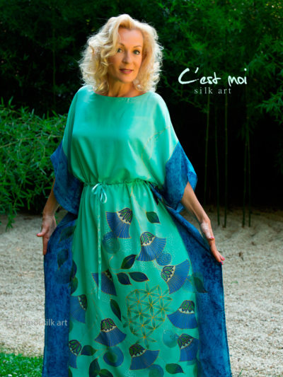 turquoise-silk-dress-with-papyrus-and-flower-of-life-06