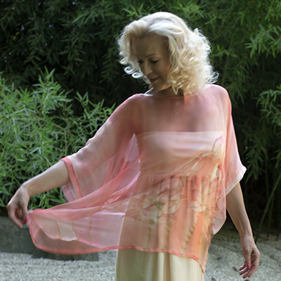 Hand painted silk Blouses